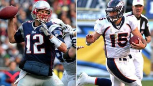 Tim Tebow faces his toughest test of the season as he goes up against Tom Brady